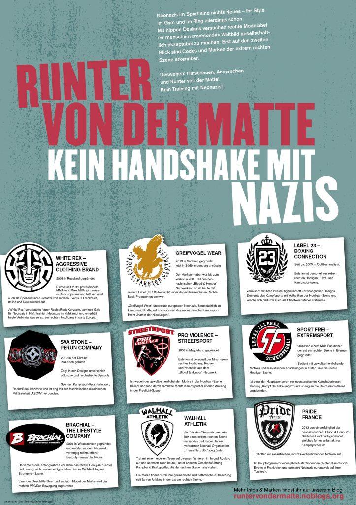 """Plakat """"Runter von der Matte"""""""
