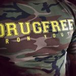 "T-Shirt von ""Black Legion""; Motiv: ""DRUGFREE Iron Youth"""