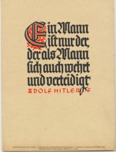 Ursprungsmotiv von den NSDAP-Wochensprüchen; 17.-23. November 1940