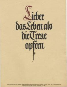 Ursprungsmotiv von den NSDAP-Wochensprüchen; 20.-26. Oktober 1940