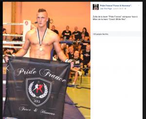 """Zoltan, Kämpfer des tschechischen """"Team Pride France"""""""
