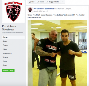 """Karsten Liebich wird von """"Pro Violence"""" als """"unser"""" MMA-Fighter vorgestellt"""