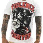 """T-Shirtvon """"Pro Violence""""; Motiv: """"Violence Fighter"""""""