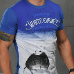 "T-Shirt von ""Svastone""; Motiv: ""Stop Pollution – White Europe"""