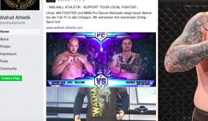 """Dennis Michaelis als """"Walhall Athletik""""-Fighter"""