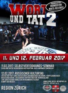 """Flyer für das """"Wort und Tat 2""""- Seminar 2017, ausgerichtet von der PNOS"""