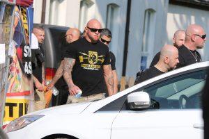 """Roman Blaschek vom """"Team Noricum"""" mit """"Greifvogel Wear""""-T-Shirt in Ostritz 2018 (Bild: EXIF-Recherche)"""