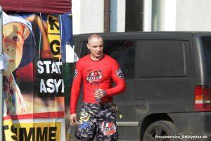 """Tomasz Skatulsky als Kämpfer beim """"KdN"""" 2018 in Ostritz (Bild: Presseservice Rathenow)"""