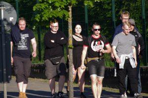 Der Rostocker Neonazi und Kampfsportler David Mallow auf einem Aufmarsch am 8. Mai 2018 in Demmin (Bild: EXIF-Recherche)