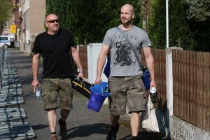 Kevin Görke (rechts) auf dem Weg zum KdN-Turnier im April 2018 in Ostritz (Bildrechte: Exif-Recherche)
