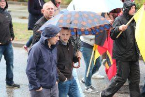 David Mallow auf einem Aufmarsch der AfD am 22. September 2018 in Rostock (Bildrechte: Pixelarchiv)