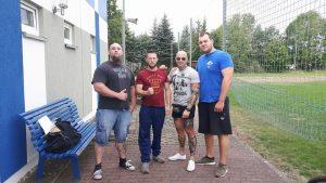 v.l.n.r.: Nico Gollnick, Maik Schubert, Attila Kinczel und Ron Krieg (Screenshot Facebook)